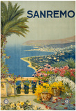 Sanremo Italy Tourism Travel Vintage Ad Poster Print Photo