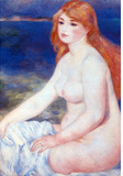 Pierre Auguste Renoir The Blond Bather 2 Art Print Poster Masterprint