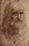 Leonardo Da Vinci (Self-Portrait) Art Poster Print Masterprint