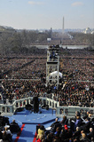 President Barack Obama (Giving Inaugural Address) Art Poster Print Masterprint