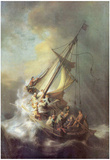 Rembrandt Harmensz. van Rijn (Christ in the Storm on the Sea of Galilea) Art Poster Print Posters