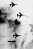 Vietnam War (B-66 and F-105s Bombing Vietnam) Photo Poster Print Prints