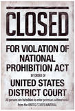 Prohibition Act Closed Sign Notice Poster Masterprint