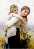 William-Adolphe Bouguereau Not Too Much To Carry Art Print Poster Prints