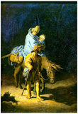 Rembrandt Flight into Egypt Art Print Poster Posters