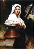 William-Adolphe Bouguereau Italian Girl Drawing Water Art Print Poster Poster