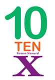 Number 10 Sign with Roman Numeral Banner Poster Masterprint