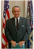 President Lyndon B Johnson (Portrait, Color) Art Poster Print Prints