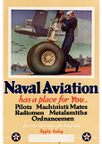 Naval Aviation Has a Place for You WWII War Propaganda Art Print Poster Masterprint