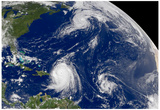 Three Storms From Space Hurrican Irene Photo Print Poster Plakaty