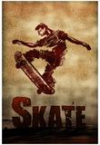 Skateboarding Skate Sketch Sports Poster Print Plakaty