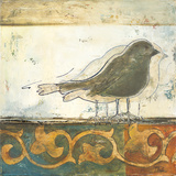 Birds on Damask II Posters by Patricia Quintero-Pinto