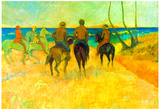 Paul Gauguin Riding on the Beach 2 Art Print Poster Posters