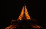 Paris France Eiffel Tower at Night Photo Art Print Poster Masterprint