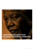 Nelson Mandela Quote iNspire 2 Motivational Poster Masterprint