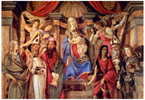 Sandro Botticelli Madonna Throne of Angels and Saints Art Print Poster Prints