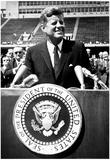 President John F Kennedy Speech Archival Photo Poster Kunstdrucke