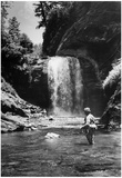 Trout Fishing Asheville North Carolina 1941 Archival Photo Poster Posters