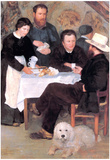 Pierre Auguste Renoir At the Inn of Mother Anthony Art Print Poster Print