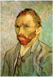 Vincent Van Gogh Self Portrait 1 Art Poster Print Posters