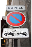 Paris France Rappel Sign Art Print Poster Photo