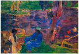 Paul Gauguin Pond Shore Art Print Poster Posters