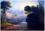 Thomas Doughty Fanciful Landscape Art Print Poster Print