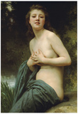 William-Adolphe Bouguereau Spring Breeze Art Print Poster Poster