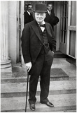 Winston Churchill with Cane Archival Photo Poster Print Print