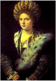 Titian Isabella in Black Art Print Poster Posters