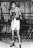 Sugar Ray Robinson in Boxing Ring Archival Photo Sports Poster Print Print