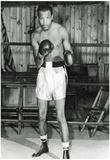 Sugar Ray Robinson in Boxing Ring Archival Photo Sports Poster Print Fotografía