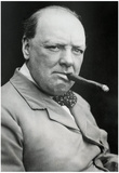 Winston Churchill Smoking Cigar Archival Photo Poster Print Posters
