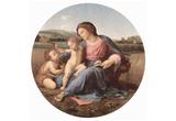 Raffael (Alba Madonna, Scene: Mary with Christ Child and John the Baptist, Tondo) Art Poster Print Prints