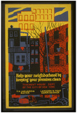 New York City (Keep Your Neighborhood Clean) Art Poster Print Print