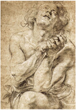 Peter Paul Rubens Study of Daniel in the Lions Den Art Print Poster Prints