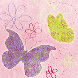 Fly Away I (pink) Prints