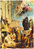 Peter Paul Rubens The Miracle of St. Francis Xavier Art Print Poster Plakater
