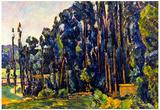 Paul Cezanne The Poplars Art Print Poster Posters