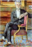 Paul Cezanne Victor Chocquet Seated Portrait Art Print Poster Prints