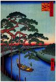 Utagawa Hiroshige Five Pines Art Print Poster Posters