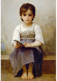 William-Adolphe Bouguereau The Difficult Lesson Art Print Poster Masterprint
