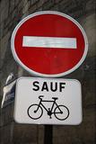 Paris France Sauf Biking Sign Art Print Poster Masterprint