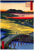 Utagawa Hiroshige Sugatami Bridge Art Print Poster Foto