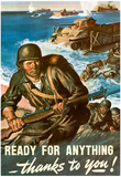 Ready for Anything Thanks to You WWII War Propaganda Art Print Poster Photo