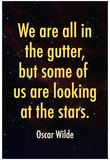 Oscar Wilde Looking at the Stars Quote Print Poster Prints
