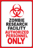 Zombie Research Facility Art Poster Print Masterprint