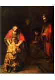 Rembrandt Harmensz. van Rijn (Return of the Prodigal Son) Art Poster Print Posters