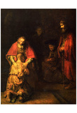 Rembrandt Harmensz. van Rijn (Return of the Prodigal Son) Art Poster Print Posters