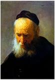 Rembrandt Portrait of Vaters Art Print Poster Photo